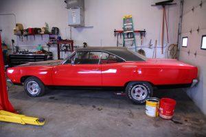 customized classic car